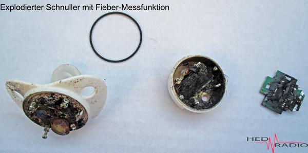 explodierter Schnuller, Mikrowelle