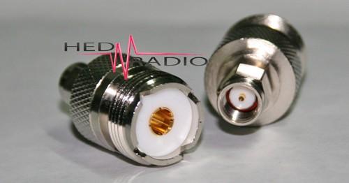 Adapter SMA-Stecker auf UHF-Buchse