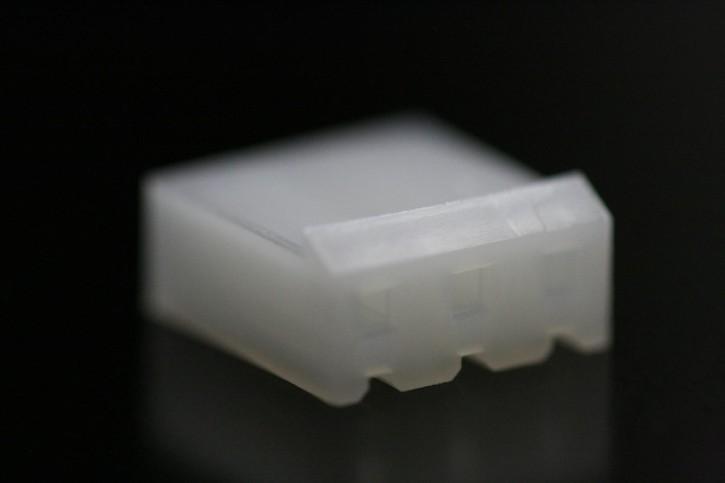 100 x Steckergehäuse Nylon 3 polig Innenraster 3,96mm Farbe weiß