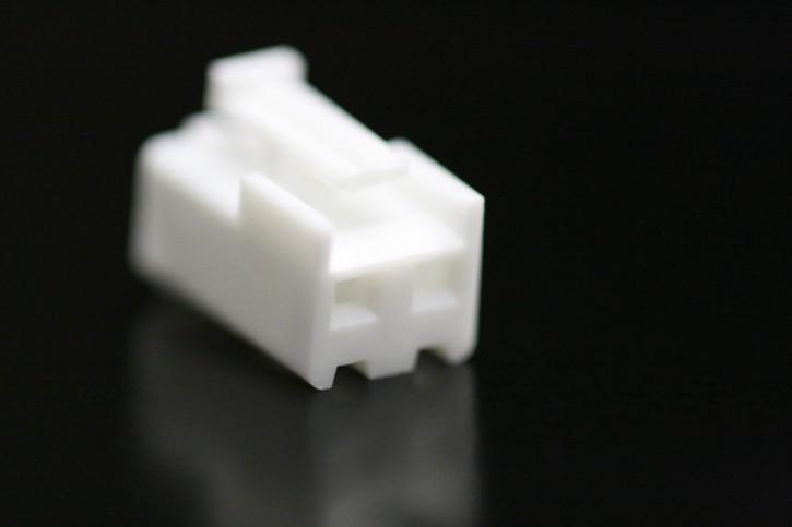 100 x Steckergehäuse Nylon 2 polig Raster 3,96mm Farbe weiß