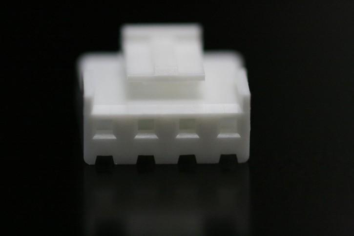 100 x Steckergehäuse Nylon 4 polig Raster 3,96mm Farbe weiß