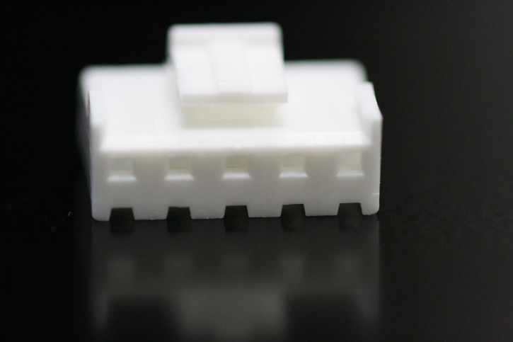 100 x Steckergehäuse Nylon 5 polig Raster 3,96mm Farbe weiß