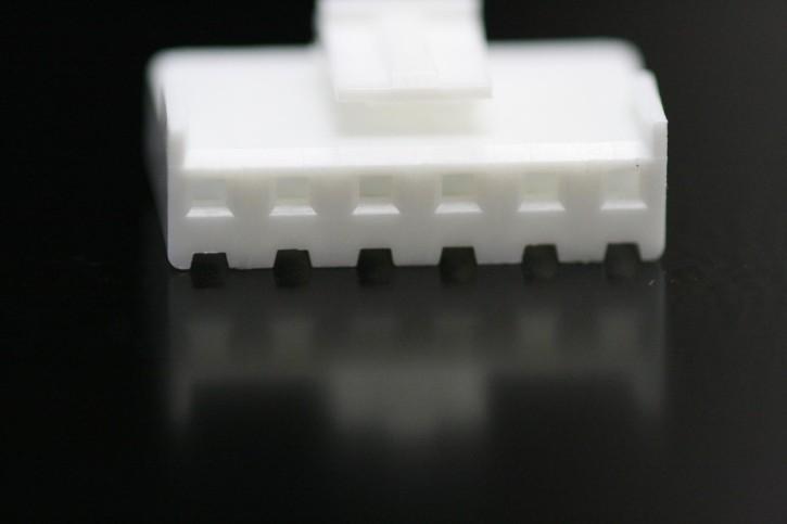 100 x Steckergehäuse Nylon 6 polig Raster 3,96mm Farbe weiß