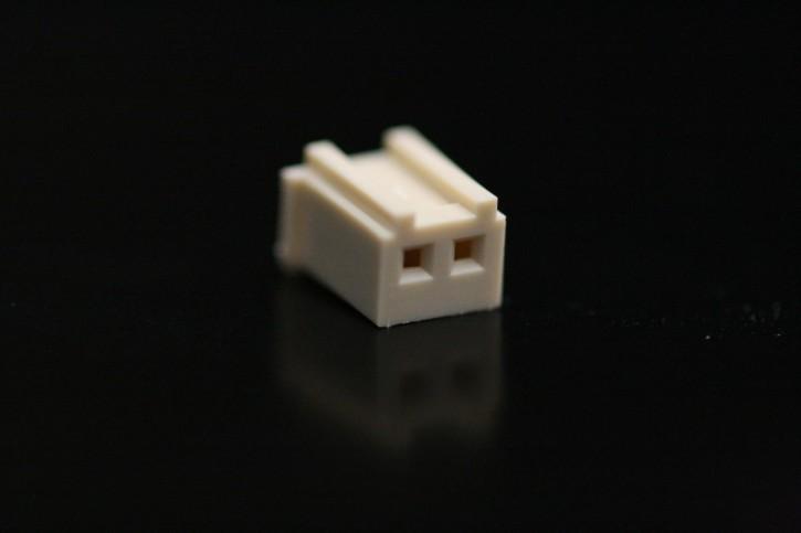 100 x Crimpsteckergehäuse 2pol 2,5mm passend für viele MeanWell-Netzteile
