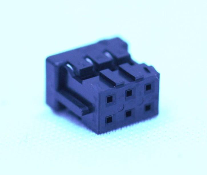 100 x Crimpsteckergehäuse 6pol 2mm passend für viele MeanWell-Netzteile