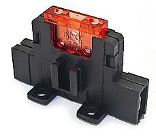 10 x Sicherungshalter für KFZ-Sicherung normale Größe mit 6,3mm Flachstecker und Montagelaschen