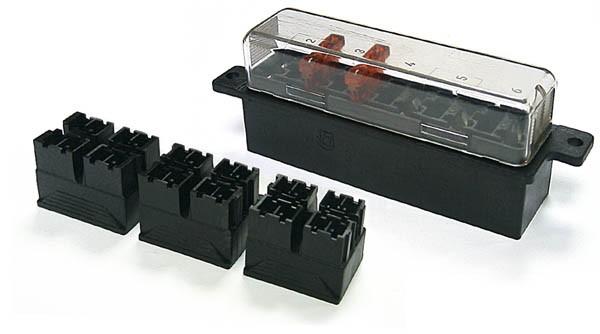 Sicherungshalter für KFZ-Sicherung normale Größe, Printanschluss 6pins