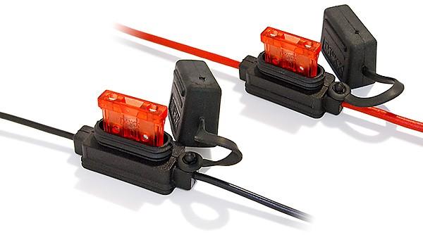 10 x Sicherungshalter für KFZ-Sicherung normale Größe IP56 1,5mm² Litze