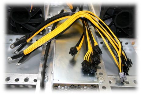 Kabelsatz Krypto-mining von Kabelschuh M5 auf 10 x PCIe