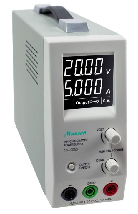 Labornetzteil Manson NSP-2050 einstellbar 0V bis 20V max. 5A