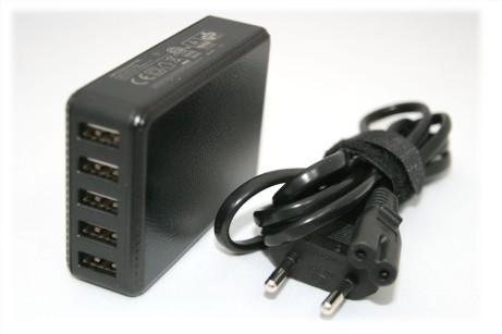 5V 8A USB-Netzteil mit 5 x USB A-Buchse und 1,5m Leitung
