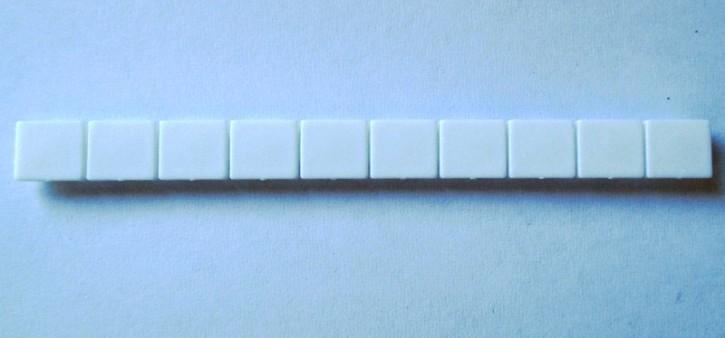 10 x Beschriftung Reihenklemme 5mm weiß