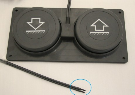 Fußschalter Doppelschlauch pneumatisch für Liege u.a. mit Magnetic-Motor