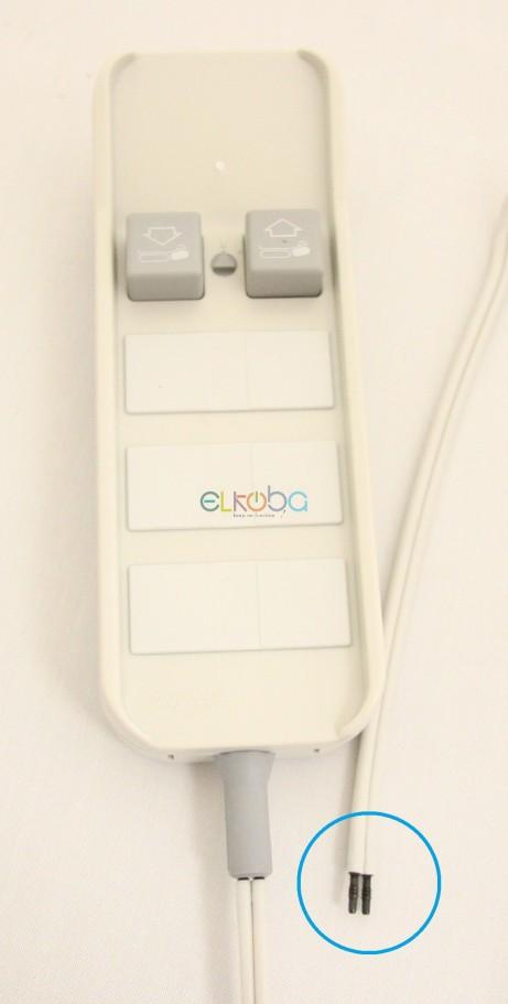 Handschalter längs Doppelschlauch pneumatisch für Liege u.a. mit Magnetic-Motor