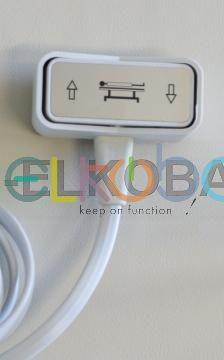 Handschalter quer Doppelschlauch pneumatisch für Liege u.a. mit Hanning-Motor