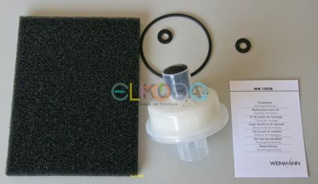 Filterset Sauerstoffkonzentrator Weinmann Oxymat 3 für 5.000h   Inhalt: 1 x Grobstaubfilter (WM 13631) 1 x Ansaugfilter (WM 13190) 1 x Ansaugfilter fein 1 x Ansaugfilter grob