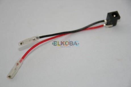 Kabel Akkubox mit Hohlbuchse und Flachsteckhülse