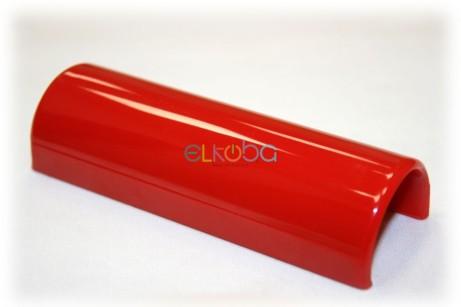 Völker Ersatzteil Clip Namensschild für Pflegebett oder Klinikbett, rund, passend für Holmdurchmesser 30mm, rund, rot