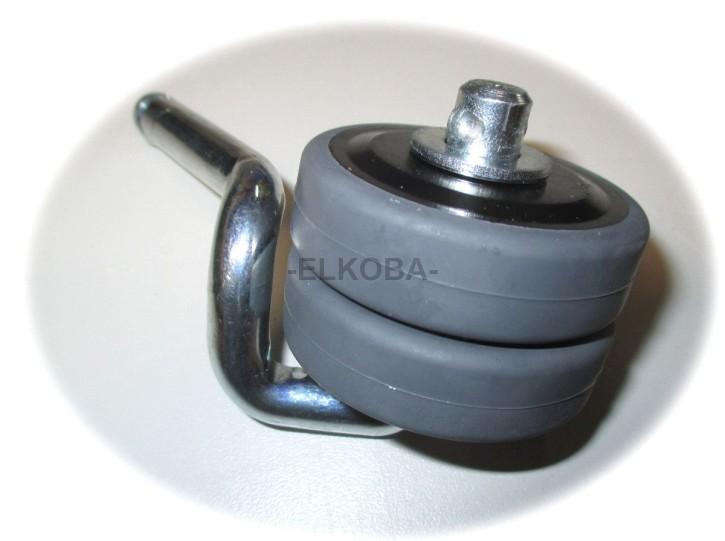 Doppel-Laufrolle passend für 5039 Stiegelmeyer, Bremsung durch Formschluss Standfußgehäuse