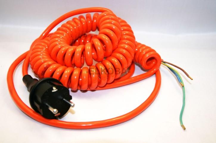 HillRom Ersatzteil Netzkabel gewendelt, 3adrig, EPR, SK I, passend zu MA0B, MA1B, MA2B, MA3B, MA4A