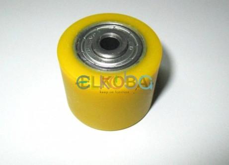 Laufrolle Pflegebett gelb, Durchmesser 35mm, Mittenloch M6
