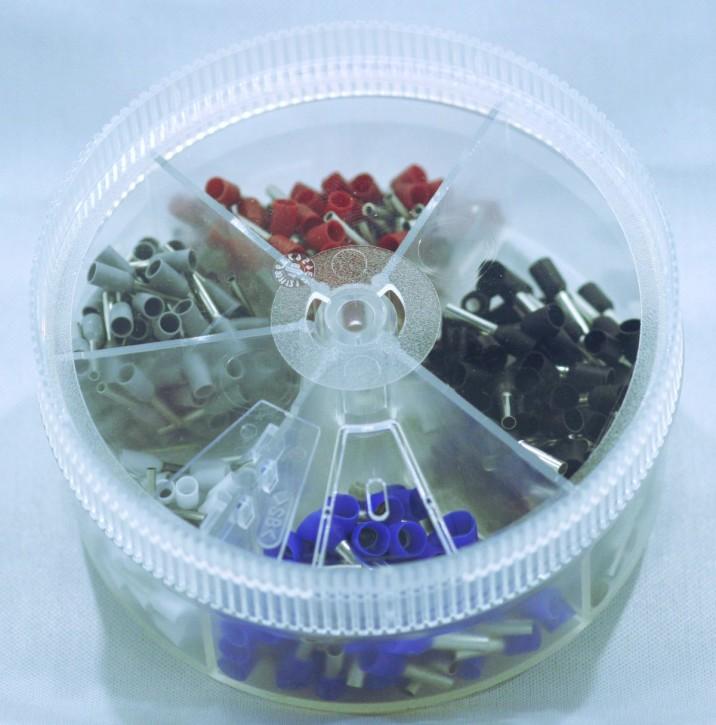 Aderendhülsen Sortiment isoliert 0,5 bis 2,5mm², über 300 Teile