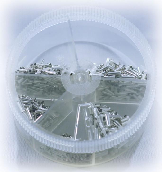 Aderendhülsen Sortiment unisoliert 0,5 bis 2,5mm², über 1000 Teile