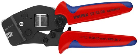 Crimpzange für Aderendhülsen 0,08 bis 10mm² Knipex 97 53 08