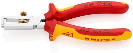 Abisolierzange 160mm VDE Knipex 11 06 160