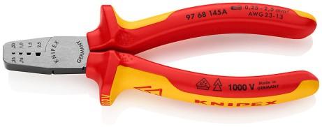 Crimpzange für Aderendhülsen0,25 bis 2,5mm² VDE Knipex 97 68-145A