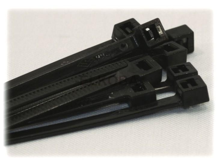 100 x Kabelbinder 4,8x360mm schwarz UV-stabil