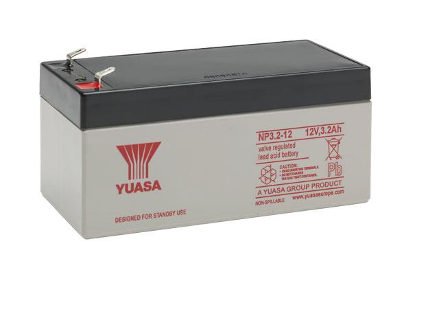 YUASA NP2.3-12 Bleiakku 12V / 2Ah, 134 x 67 x 64mm (LxBxH) Flachstecker 4,8mm