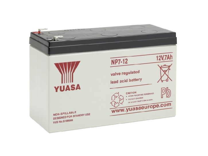 YUASA NP7-12 Bleiakku 12V / 7Ah, 151 x 65 x 98mm (LxBxH) Flachstecker 4,8mm