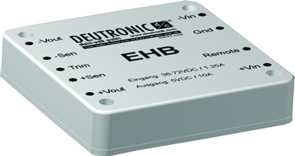 DC-Wandler Deutronic IN 9-18V OUT 5V 75W EHB75-12-5