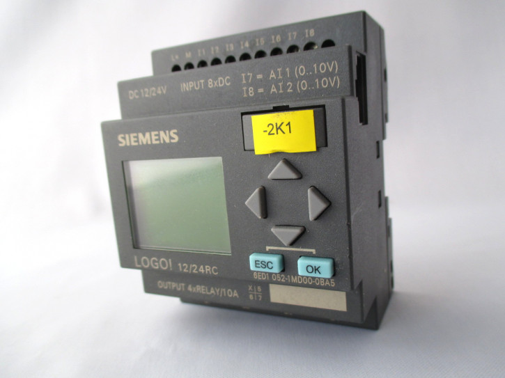 SPS-Modul SIEMENS LOGO! 6ED1-052-1MD00-0BA5, 24RC, geprüft