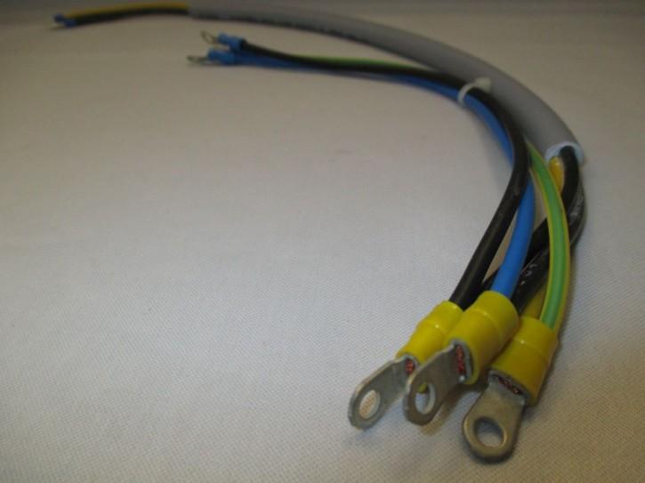 Kabelsatz 3x2,5mm² mit M4 Ringkabelschuh konfektioniert, Länge ca. 0,5m