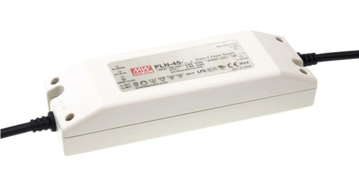 LED-Netzteil 45W 36V max. 1,2A, Typ MeanWell PLN-45-36, Lagerüberhang, original verpackt