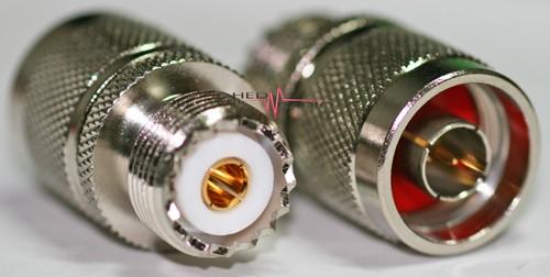 Adapter N-Stecker auf UHF-Buchse