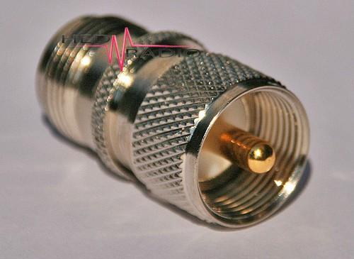 Adapter UHF- und PL-Stecker auf N-Buchse