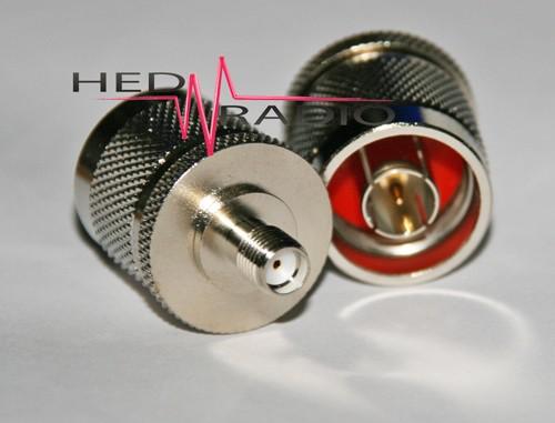 Adapter N-Stecker auf SMA-Buchse