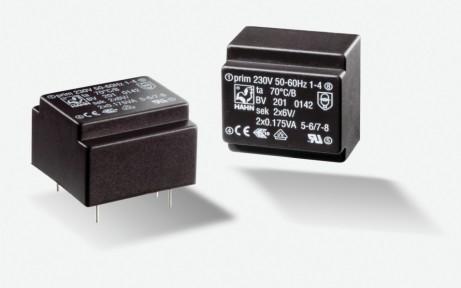 4 x Transformator Sub-Miniatur Hahn EE20 0,35VA 230V 2x15V 12mA