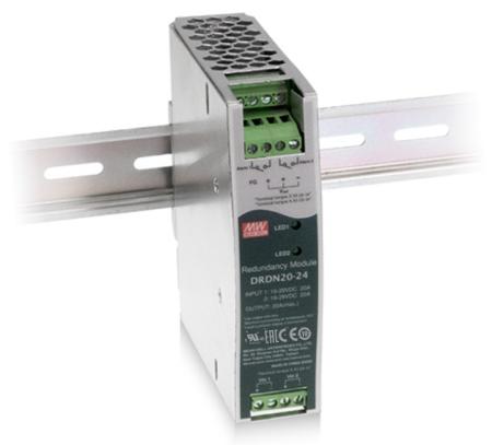 MEANWELL DRDN20-12 Redundanz-Modul Hutschiene 12V / 20A, 102 x 32 x 125mm (LxBxH)