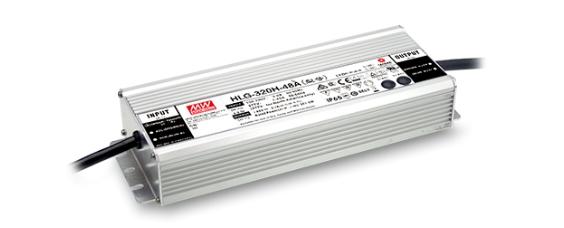 500 x MeanWell HLG-320H-12C LED-Netzteil 12V / 22A 252x90x44mm