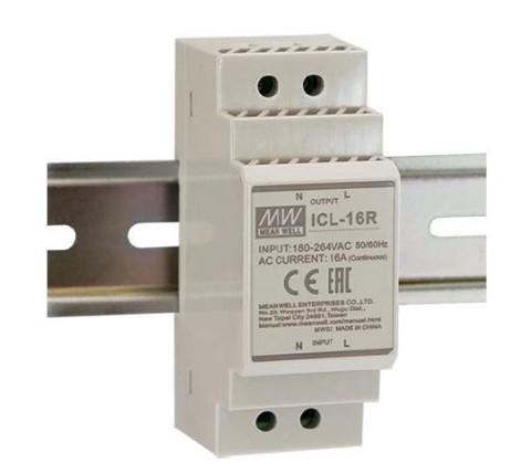 MEANWELL ICL-16R Einschaltstrombegrenzer Hutschiene 230V / 16A, 35 x 90 x 55mm (LxBxH)