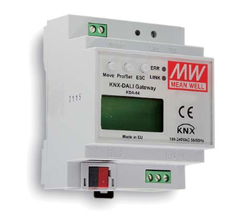 KNX- und Dali-Gateway MeanWell KDA64 mit Display