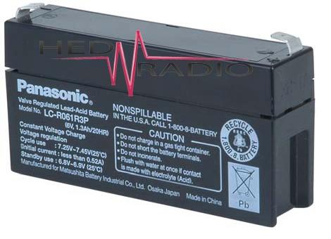 6V 1,3Ah Blei Akku Panasonic LC-R061R3