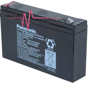 6V 7,2Ah Blei Akku Panasonic LC-R067R2 mit 4,8mm Faston