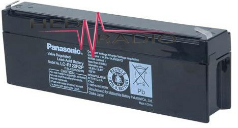 12V 2Ah Blei Akku Panasonic LC-R122R2
