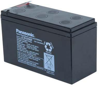 12V 7,2Ah Blei Akku Panasonic LC-R127R2 mit 6,3mm Faston