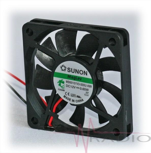 SUNON DC Axial-Lüfter 12V 60 x 60 x 10, MB60101V3-A99